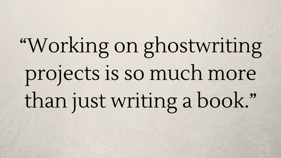 offer ghostwriting services